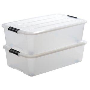 2-tlg. Aufbewahrungsbox Top aus Kunststoff von ..