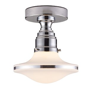 Heatherly 1-Light Semi-Flush Mount by Brayden Studio