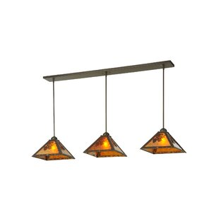Meyda Tiffany Lone Pine 3-Light Kitchen Island Pendant