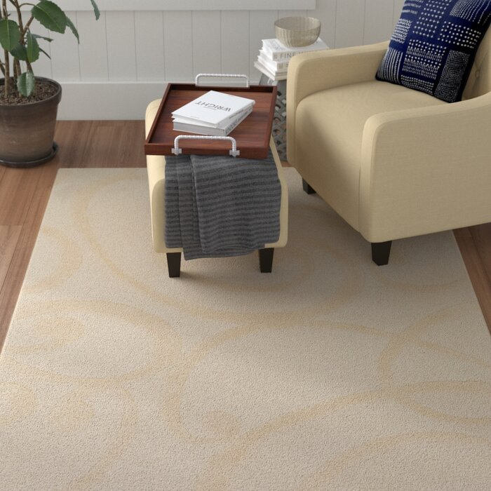 Allegro Hand Tufted Wool Cream Area Rug
