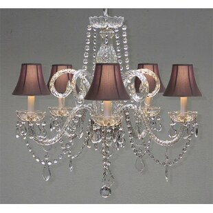 House of Hampton Meredith 5-Light Shaded Chandelier