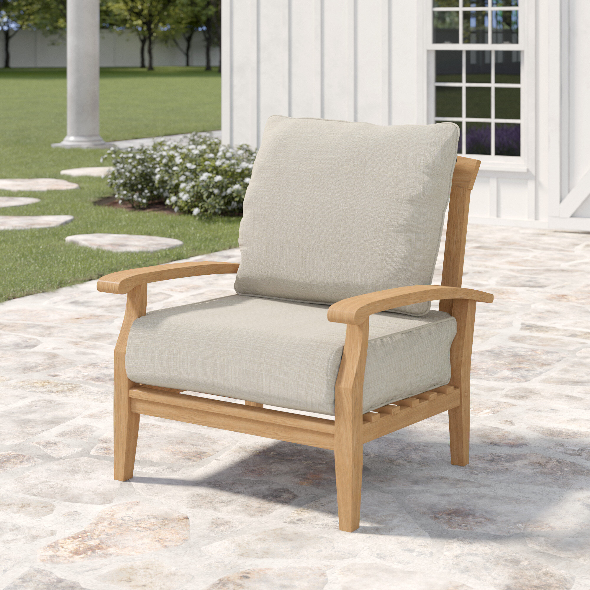 Summerton Teak Patio Chair With Cushions