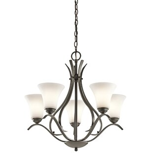 Affordable Price Bourne 5-Light Shaded Chandelier By Alcott Hill