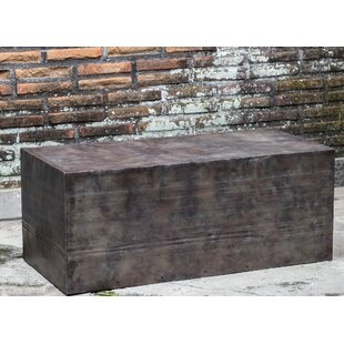 Williston Forge Carrasco Natural Steel Coffee Table
