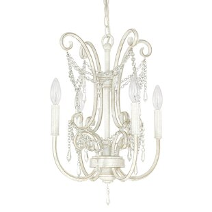 House of Hampton Fostoria 4-Light Candle Style Chandelier
