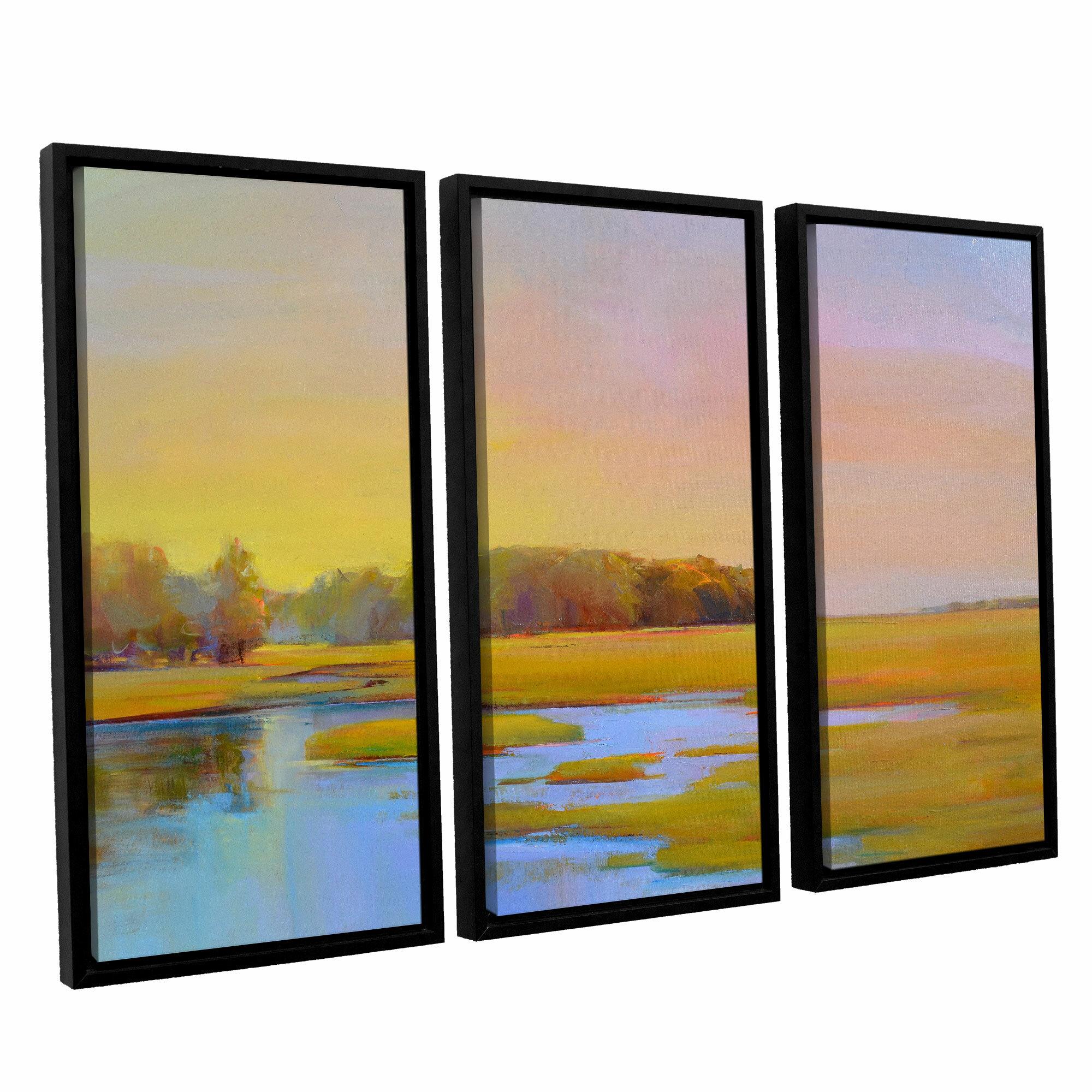 Latitude Run Summer Marsh 2 3 Piece Framed Painting Print On Canvas Set Wayfair
