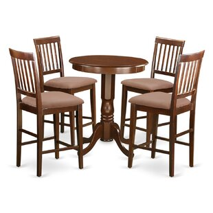 Eden 5 Piece Counter Height Pub Table Set Wooden Importers
