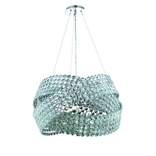 Arkadelphia 16-Light Crystal Chandelier by Everly Quinn