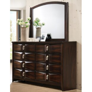 Bloomsbury Market Kobe 8 Drawers Dresser with Mirror Image