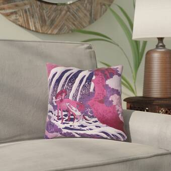 August Grove Keyon French Knot Flowers Throw Pillow Wayfair