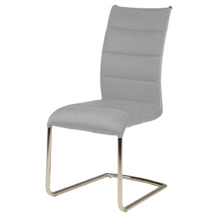 Lavallie Unique Stitch Accent Metal Upholstered Dining Chair (Set of 2) by Orren Ellis
