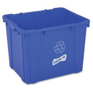 14 Gallon Curbside Trash & Recycling Bin By Genuine Joe