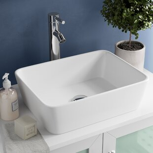 ceramic rectangular vessel bathroom sink - Small Bathroom Sinks