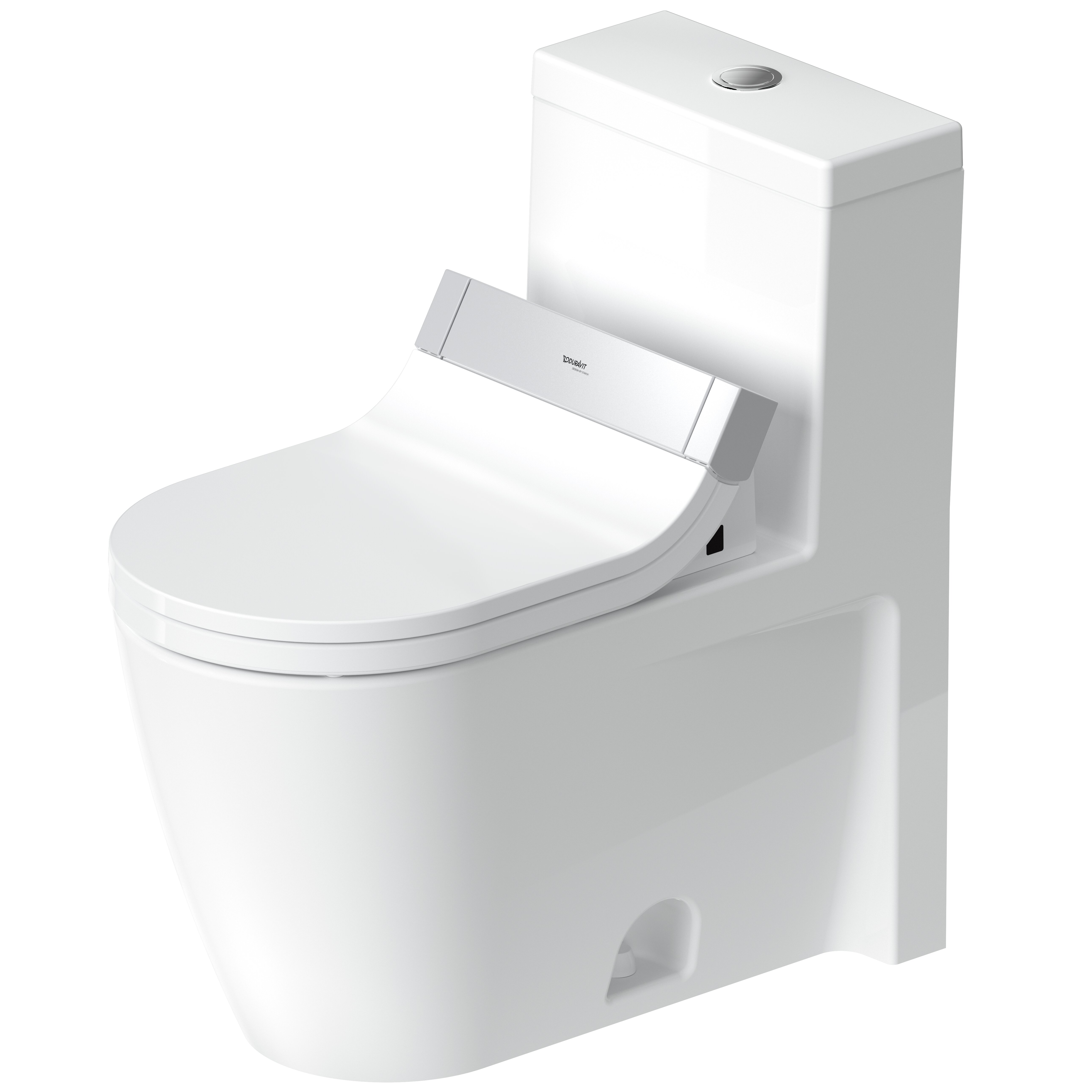 Duravit 1 28 Gpf Water Efficient Elongated One Piece Toilet Seat Included Wayfair