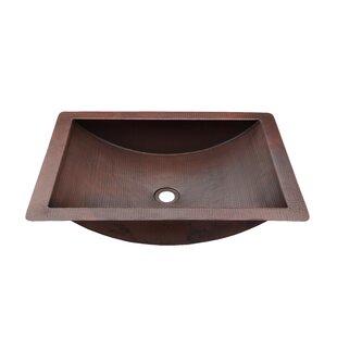 Novatto Merida Metal Rectangular Dual Mount Bathroom Sink
