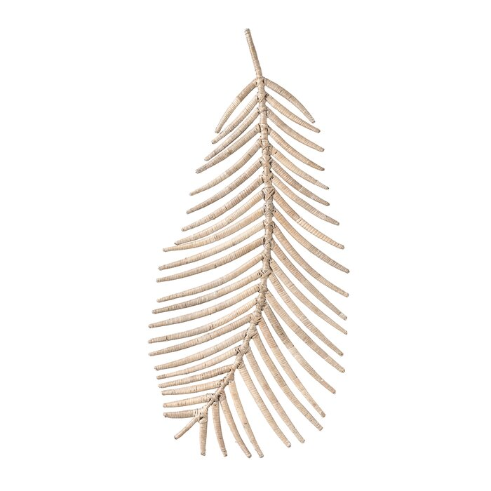 Beige Rattan Palm Leaf Wall Décor