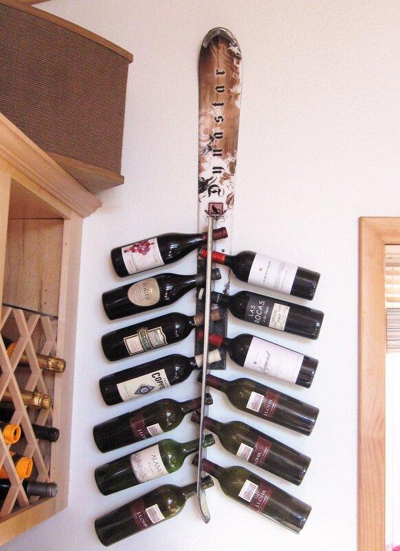 Wall Hanging Wine Rack ski chair snow 13 bottle wall mounted wine rack & reviews | wayfair