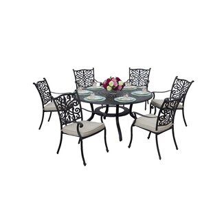 Belton 7 Piece Dining Set with Cushions