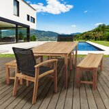 Medrano 5 Piece Teak Dining Set