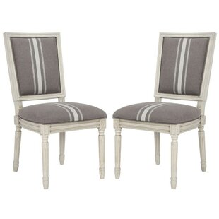 Rosemary French Brasserie Upholstered Dining Chair (Set of 2) by One Allium Way