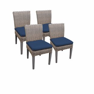 Oasis Patio Dining Chair with Cushion (Set of 4) by TK Classics