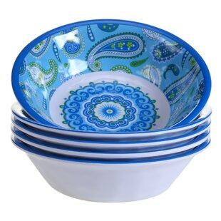 Boho Heavy Weight Melamine Salad Bowl (Set of 6)