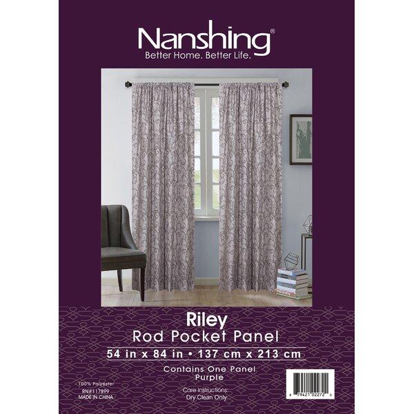 Ophelia Co Jayda Riley Paisley Rod Pocket Semi Sheer Curtains Reviews Wayfair