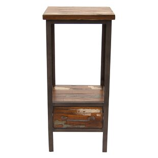 Palko Wood and Metal End Table