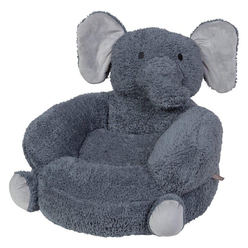 Amazing Elephant Plush Character Kids Novelty Chair