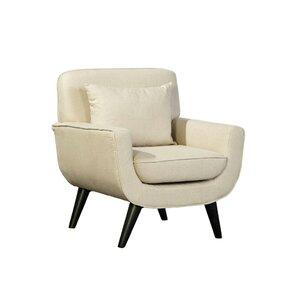 Mid Century Modern Linen Armchair