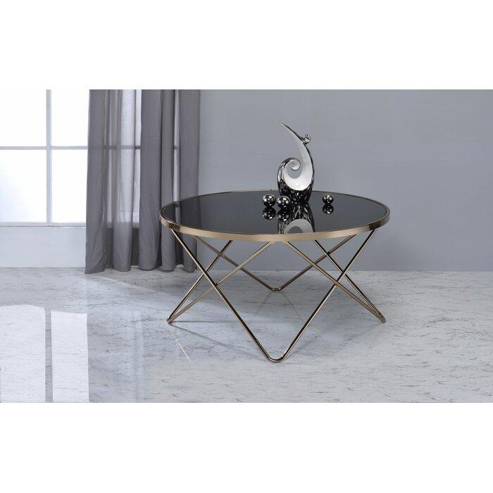 Smyrna Contemporary Round Living Room Coffee Table
