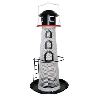 Woodstream Solar Lighthouse Finch Decorative Bird Feeder