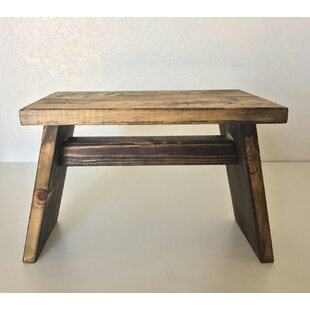 Primitive Wooden Riser End Table by Established 98