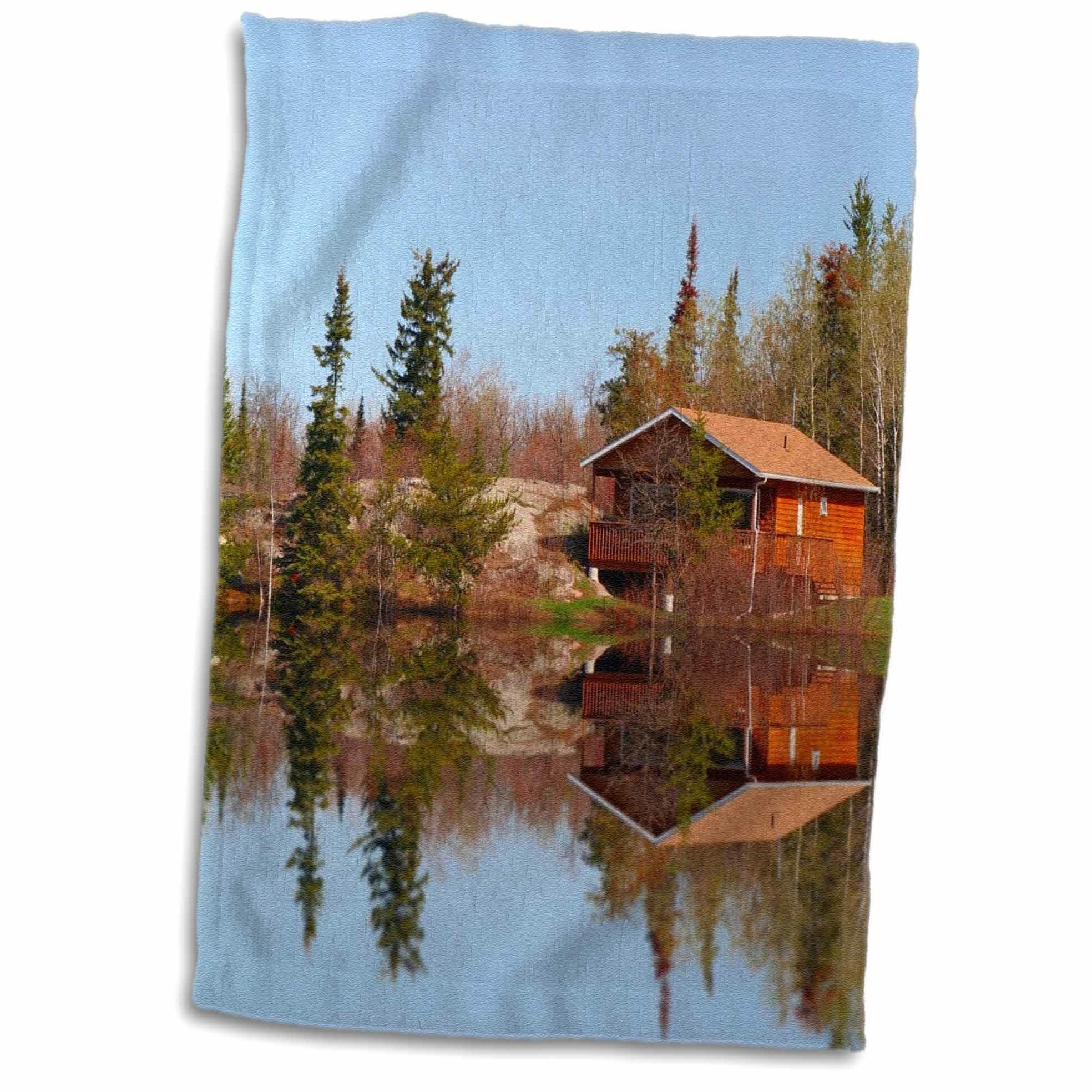 Symple Stuff Rustic Cabin Reflections Towel Wayfair