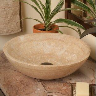 Bargain Stone Circular Vessel Bathroom Sink ByNovatto