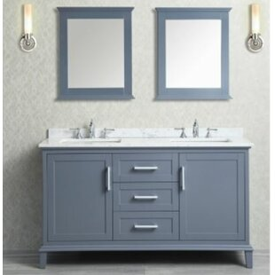 Sunderland 60 Double Bathroom Vanity Set with Mirror By Latitude Run