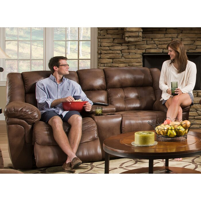 Excellent Simmons Upholstery Hanna Motion Console Reclining Sofa Ibusinesslaw Wood Chair Design Ideas Ibusinesslaworg