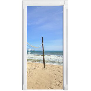 Volleyball Net On The Beach Door Sticker By East Urban Home