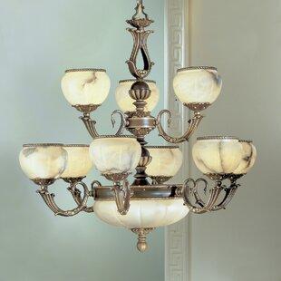 Classic Lighting Alexandria I 12-Light Shaded Chandelier