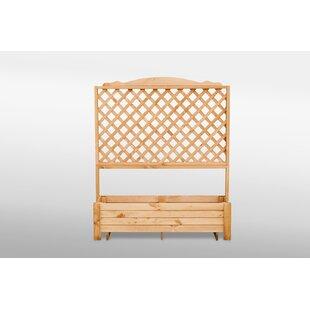 Romantica Wooden Planter Box With Trellis Image