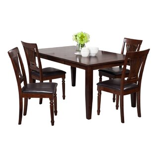 Haan 5 Piece Solid Wood Dining Set by Red..