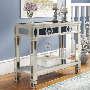Enya 2 Drawer Mirrored Console Table ByWilla Arlo Interiors