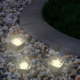 Ice Cube Solar Powered LED Well Light Pack (Set of 3)