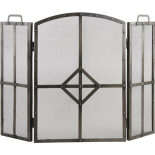 Puente 3 Panel Wrought Iron Fireplace Screen By Rosalind Wheeler