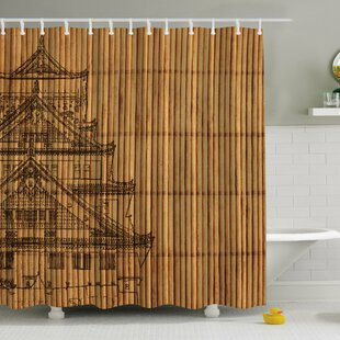 Japanese Reed Print Single Shower Curtain