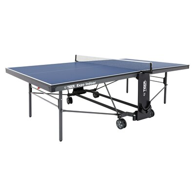Expo Ping Pong Foldable Indoor Table Tennis Table (19mm Thick) TigerPingPong Finish/Color: Blue