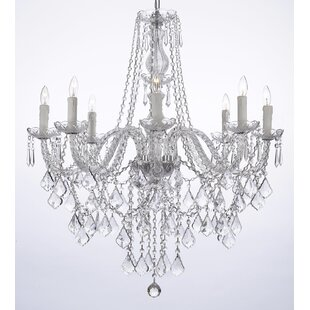 Reviews Anton 8-Light Candle Style Chandelier By Astoria Grand