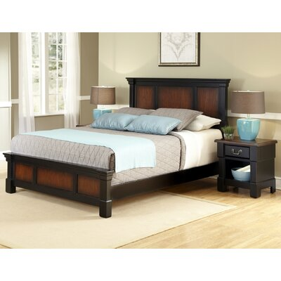 Cargile Standard 2 Piece Bedroom Set Bed Size: Queen, Color: Rustic Cherry / Black