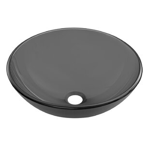 Glass Circular Vessel Bathroom Sink by VIGO