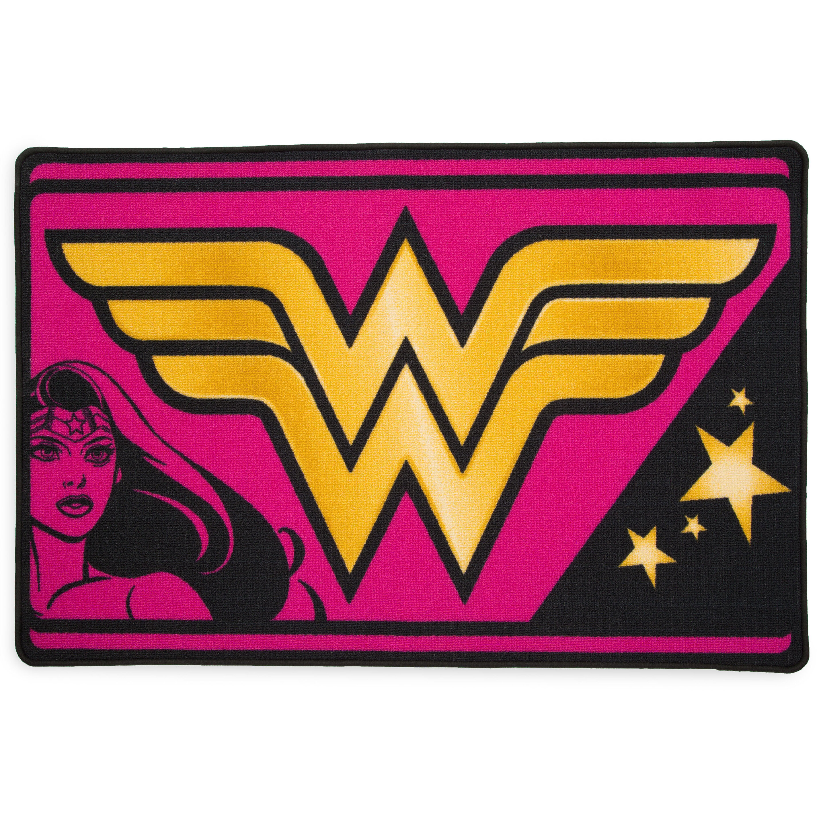 Delta Children Dc Comics Wonder Woman Soft Pink Yellow Area Rug